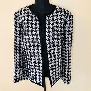 🐘 Jones New York Houndstooth Jacket